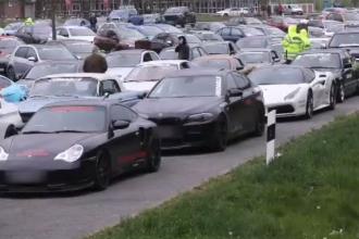 Poliţia germană a confiscat 120 de mașini sport care participau la un raliu