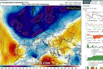 Scăderi bruște de temperatură în următoarele zile. S-ar putea forma noi tornade
