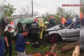 Cod roșu medical pe DN1, după un accident între o autoutilitară și un autoturism