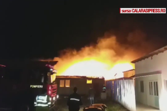 Incendiu devastator la un cort destinat evenimentelor, în Călărași. Ipoteza anchetatorilor