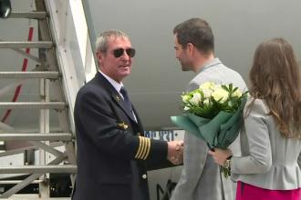 Moment emoționant pentru un pilot TAROM cu 18.000 de ore de zbor