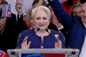 Viorica Dăncilă, la mitingul PSD de la Galați: