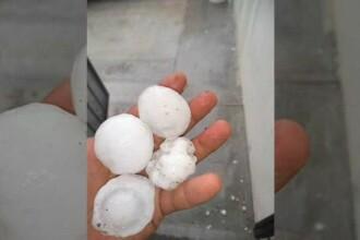 O furtună violentă a adus grindină de dimensiunea unei mingi de golf în Mexic