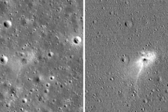 """Imaginea surprinsă de NASA pe Lună. """"Am zgâriat-o bine!"""""""