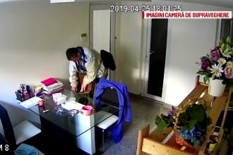 Bărbat filmat în timp ce fură bani dintr-o geantă, în vestiarul unei policlinici