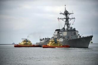 O navă maritimă de război americană a intrat în Marea Chinei de Sud. Anunțul făcut de SUA