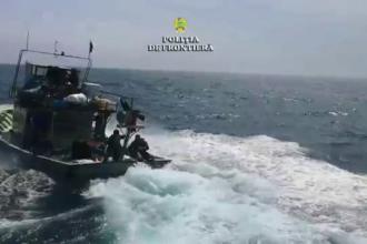 Ce pescuiau braconierii prinși în Marea Neagră, după o urmărire de 8 ore. Nava lor s-a scufundat