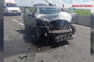 Carambol cu 4 mașini pe DN1. Un șofer neatent a provocat accidentul