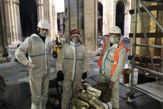 Anunț despre Notre-Dame. Ce s-a găsit printre cantitățile mari de moloz. FOTO