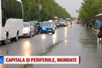 Mii de oameni blocați pe Șoseaua Petricani. Bariera s-a stricat din cauza ploii