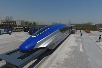 """China a dezvăluit un model de tren Maglev, """"plutitor"""", capabil să atingă 600 km/h"""