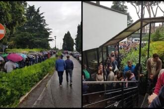 Alegeri europarlamentare 2019. Românii stau la cozi uriașe pentru a vota la Roma. VIDEO