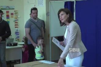 Carmen Iohannis, la Sibiu: Am votat pentru o justiţie independentă