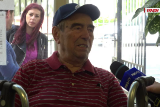 Batranul de 85 de ani care a venit din America special ca sa voteze in tara