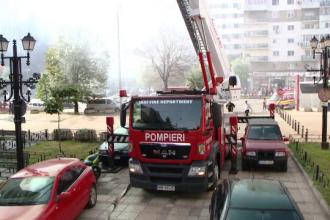 Panică în Iași după ce un apartament a luat foc. Pompierii au luat cu asalt centrul oraşului