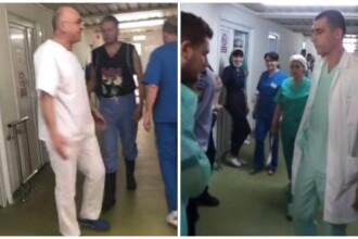Medicul concediat și reangajat de spitalul din Craiova s-a bătut din nou cu colegii. VIDEO