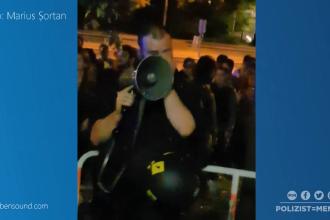 Un polițist din Munchen a izbucnit în lacrimi când a auzit scandările a zeci de români. VIDEO