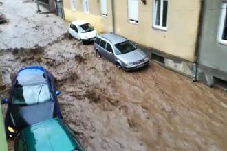 Orașul din România care s-a scufundat în apă după o ploaie torențială. VIDEO