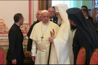 Papa Francisc, mesaj pentru credincioşii ortodocşi. Ce i-a răspuns Patriarhul Daniel