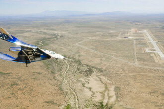 Avionul spațial SpaceShipTwo a făcut primul zbor deasupra bazei sale de origine