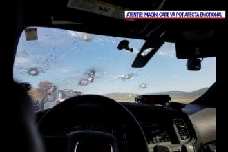 Ploaie de gloanțe asupra unui echipaj de poliție din SUA. Ce s-a întâmplat cu atacatorul. VIDEO