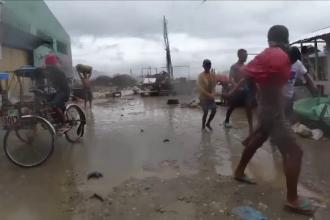 Haos în Filipine, în urma unui taifun. Mii de persoane evacuate și locuințe distruse
