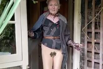 Vivienne Westwood a lansat un apel privind pandemia, într-o ținută îndrăzneață, din ușa casei