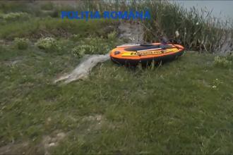 Trei bărbați din Gorj au fost prinși la braconaj. Ce au găsit polițiștii în barca indivizilor