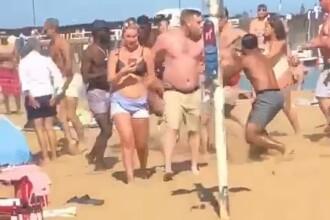 VIDEO. Bătaie generală pe o plajă din Anglia