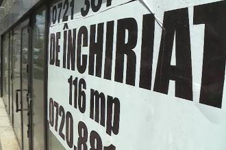 Pandemia de coronavirus a lovit puternic afacerile mici. Zeci de spații comerciale au rămas goale