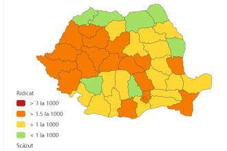 Harta județelor aflate în scenariul verde. Unde sunt cele mai puține restricții de Paște