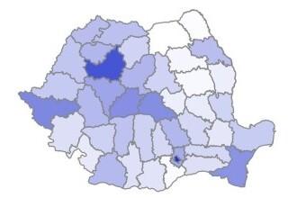 Ce procent din populaţie s-a vaccinat împotriva COVID-19 în fiecare judeţ. Bucureşti şi Cluj, în fruntea clasamentului