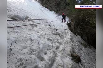 Patru turiști au fost recuperați de salvamontiști din Masivul Ceahlău după o intervenție de șapte ore