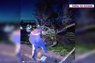 Accident rutier mortal într-un sat din județul Suceava. Un tânăr a murit, după ce mașina lui s-a izbit de un tractor