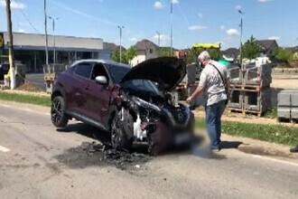 Un șofer beat a provocat un accident de circulație soldat cu trei mașini avariate și doi răniți
