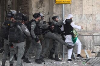 Violențe în Ierusalim. Zeci de persoane au fost rănite cu pietre, petarde, gloanțe de cauciuc