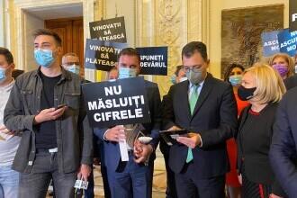 """PSD protestează în Parlament: """"Nu ascundeți morții"""" și """"Vinovații să plătească"""""""