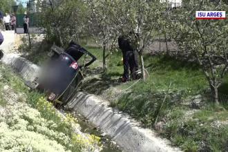 Accident grav în apropiere de Câmpulung Muscel. O mașină s-a răsturnat în șant