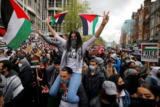 Manifestație propalestiniană cu mii de persoane la Londra.