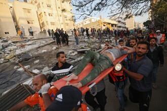 GALERIE FOTO. Imaginile dezastrului din Fâșia Gaza. Noi tiruri cu rachete duminică dimineață