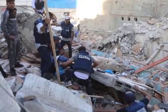 O nouă serie de atacuri aeriene puternice asupra orașului Gaza. Bilanțul a ajuns la aproape 200 de morți