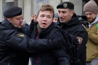 """Jurnalistul belarus Protasevici, adus din nou în fața presei. """"Spectacol kafkian"""" al autorităților"""