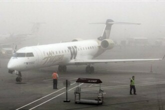 UPDATE. Ceata creeaza probleme. Zborul Bucuresti – Cluj aterizeaza cu 3 ore intarziere