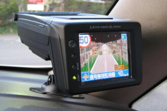 Cum se vede radarul, din masina Politiei. VIDEO cu patru