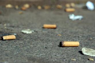 Mucurile de tigara,35% din totalul deseurilor din parcuri si de pe trotuare