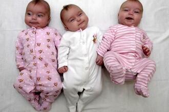 Se intampla o data la un milion de nasteri: tripleti identici!