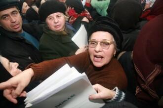 Pensionarii din Romania, la