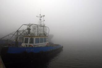 E pericol pe Dunare! Nivel ridicat al apei, ceata densa si multi busteni