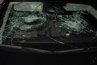 Un sofer beat si-a facut masina varza, dupa ce a intrat intr-un ghiveci!