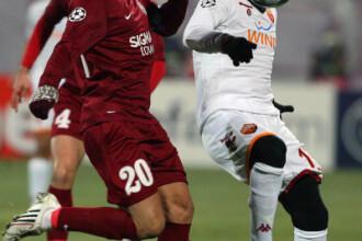CFR a pierdut meciul cu AS Roma, in Champions League! Scor final: 1-2